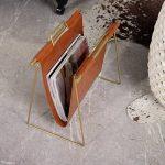 Porte-revues vertical en cuir et fer à repasser créatif, support de rangement à la maison, organisateur de rangement pour bureau de la marque ZWW electronic image 4 produit