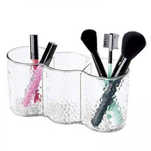 Rangement de cosmétiques avec Trio cup, mDesign, pour meuble de salle de bain, produits de beauté - Transparent de la marque MetroDecor image 0 produit