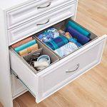 Rangement pour sous-vêtements mDesign - la boîte de rangement idéale pour soutien-gorges et culottes - deux bôites avec quatres compartiments - matériel respirant de la marque MetroDecor image 1 produit