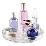 Rangement rotatif de cosmétiques, mDesign Lazy Susan, pour meuble de salle de bain, maquillage, produits de beauté - Transparent de la marque MetroDecor image 1 produit