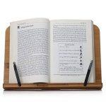 Readaeer Support de lecture portable pour livre de cuisine et bureau en bambou pliable de la marque Readaeer image 4 produit