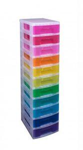 Really Useful Boîte de rangement 11litre tiroir de tour–Clair/Rainbow (lot de 7) de la marque Really Useful Box image 0 produit