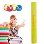 Règle Slap Band 180mm fête Jouets à mesurer l'école papeterie Règle flexible incassable Couleurs assorties 3 packs de la marque LAZYBONE QM image 1 produit