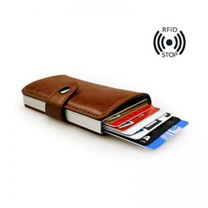 sciuU Porte-monnaie de la Carte de Crédit/Titulaire de la Carte d'Affaires, RFID Blocage, Multi-usages en Alliage d'Aluminium Portefeuilles Poches avec Extérieur de Cuir PU de la marque sciuU image 0 produit
