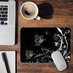 Sidorenko Tapis de Souris Gaming | Gaming Mousepad | 240 x 200 x 2mm | Surface spéciale améliore la vitesse et la précision | Base en Caoutchouc Antidérapant Surface | noir de la marque Sidorenko image 1 produit