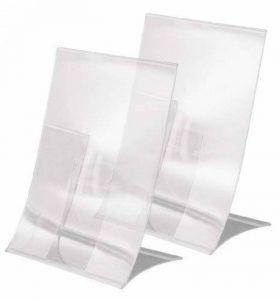 Sigel TA161 Lot de 2 Présentoirs inclinés de table pliables, 15 x 21 x 9,5 cm, transparent de la marque Sigel image 0 produit