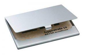 Sigel VZ135 Étui pour carte de visite, jusqu'à 15 cartes, 9,1 x 5,6 cm, argent de la marque Sigel image 0 produit