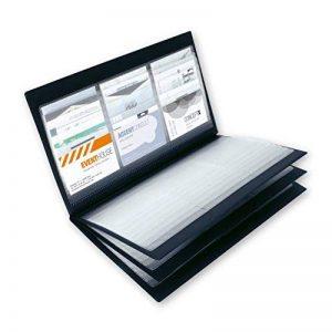 Sigel VZ175 Porte-cartes de visite, jusqu'à 288 cartes, 9 x 5,8 cm, noir de la marque Sigel image 0 produit