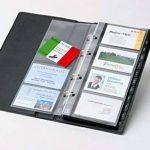 Sigel VZ300 Porte-cartes de visite, jusqu'à 200 cartes, extansible, 9 x 5,8 cm, noir de la marque Sigel image 3 produit