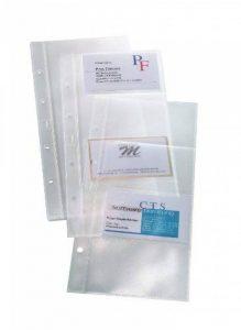 Sigel VZ350 Lot de 10 pochettes en plastique transparentes pour cartes de visite, 9 x 6 cm, trasparent de la marque Sigel image 0 produit