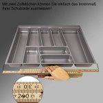 SOTECH ORGA-Box II Bac à Couvert (462 x 705 mm) pour Nobilia Tiroir DE 80 mm Gris Argenté de la marque SOTECH image 3 produit