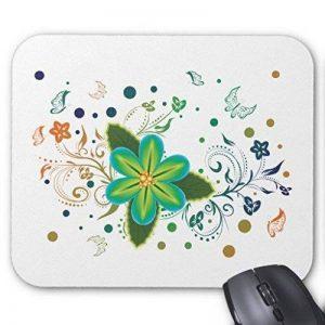Souris gaming Pad Tropical Fleur et motif décoration florale Rectangle bureau Tapis de souris 22,9x 17,8cm de la marque FIYEJIEK image 0 produit