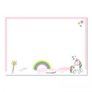 -Sous-main #DetailVerliebt format A3 avec joli motif licorne, 40feuilles, DV-105 -Pour toutes les grandes et petites filles qui aiment les licornes de la marque #detailverliebt image 0 produit