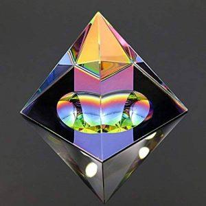 Sumnacon Cristal Pyramide en Verre de Couleur d'arc-en-Ciel et Une Belle Boîte, pour Photographie,Décoration, Cadeau ou Presse -Papier etc. (100mm) de la marque Sumnacon image 0 produit