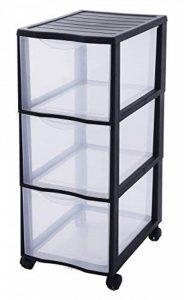 Sundis 4476014 Orgamix Tour de Rangement de 3 tiroirs Plastique Noir 36,5 x 26 x 63,5 cm de la marque Sundis image 0 produit