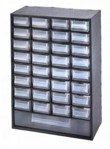 Sundis 7203001 Multibox Bloc de Rangement avec 33 Tiroirs Polypropylène Noir/Transparent 29,8 x 15 x 41,4 cm de la marque Sundis image 0 produit