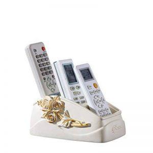 Support De Contrôle À Distance En Résine, GZD Luxe Style Boîte De Rangement De Bureau Organisateur Décoration Pour Stylo Carte De Visite Mobile Téléphone Cosmétiques Fournitures De Bureau, 16,3 * 11 * 7,5 Cm,White de la marque GZD image 0 produit