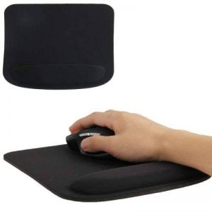Tapis de souris ergonomique repose poignet ultra fin Noir de la marque YONIS image 0 produit