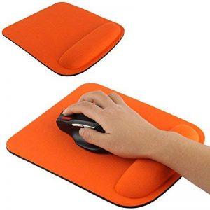 Tapis de souris ergonomique repose poignet ultra fin orange de la marque YONIS image 0 produit
