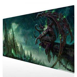 Tapis de souris Gaming XXL 900x400mm Grand Sous Main Bureau Tapis souris Gamer (90x40 IllidanStormrage003) de la marque Beyme image 0 produit