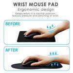 Tapis de Souris, GIM Mouse Pad Gaming Tapis de souris avec Gel Repose repose-poignet Pour PC Ordinateur (Noir) de la marque GIM image 2 produit