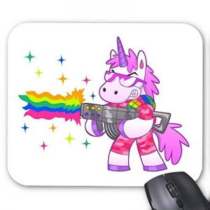 Tapis de souris licorne arc en ciel humour ref 3296 de la marque YouDesign image 0 produit