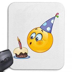 """Tapis de souris Mousepad (Mauspad) """"KID SMILEY AS ANNIVERSAIRE AVEC CAKE ET BOUGIE """"smile EMOTICON APP de SMILEYS SMILIES ANDROID IPHONE EMOTICONS IOS"""" pour votre ordinateur portable, ordinateur portable ou PC Internet .. (avec Windows Linux, etc.) à Whit image 0 produit"""