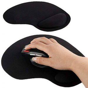 Tapis de souris repose poignet de qualité ergonomique ultra fin noir de la marque YONIS image 0 produit