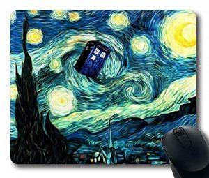 Tardis Doctor Who Peinture en caoutchouc durable Tapis de souris rectangulaire Tapis de souris personnalisé 220mm * * * * * * * * 180* * * * * * * * 3mm (22,9x 17,8cm)–ws82257 de la marque ToLuL image 0 produit