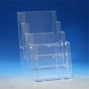 Taymar support de table pour prospectus de format a5 avec 4 étages transparent de la marque Taymar image 0 produit