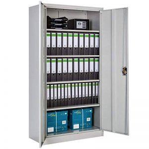 TecTake Armoire de Bureau Metallique verrouillable avec étagères - diverses Tailles au Choix - (180x90x40 cm | no. 402483) de la marque TecTake image 0 produit