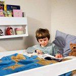 Tidy Books - L'étagère originale pour lit superposé, le Bunk Bed Buddy, Étagère flottante, pour rangement à côté des lits superposés et mezzanine - Étagère en bois - 33 x 53 x 12 cm de la marque Tidy Books image 1 produit