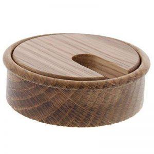 ToniTec boîte de câbles en bois, érable, chêne, hêtre, cerisier, laqué, Ø 80mm de la marque ToniTec image 0 produit