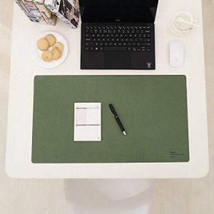 Tshome Cuir PU étanche Main de bureau antidérapant Tapis de tapis de Rédiger pour ordinateur portable de jeu pour PC clavier pour ordinateur portable Bureau/Home 61x 34.3cm Green de la marque TSHOME image 0 produit