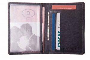 Étui pour carte d'identité, Carte de crédit étui, carte d'identité à anneaux en cuir de vachette, noir, fine 6691 de la marque Anders image 0 produit
