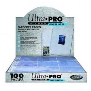 Ultra Pro - Silver Pages - Feuilles de classeur - 100 feuilles de 9 pochettes (11 Trous) de la marque Ultra Pro image 0 produit