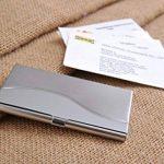 Un porte-cartes de visite fait en acier inoxydable de haute qualité, très élégant et moderne, poli et avec des vagues imprimées, Mod. 303 (DE) de la marque Quantum Abacus image 3 produit