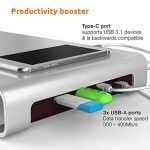 Urbo Support de Moniteur avec Hub USB de Type C pour la Connectivité Multi-périphérique + Stockage de Clavier pour des Espaces de Travail Efficaces de la marque Urbo image 1 produit