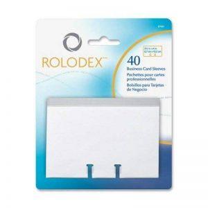 Vente en gros cas de 25–Rolodex Fichier de carte de visite recharge Sleeves-business Card Sleeve recharge, pour 67197/67208, 40/PK, clair de la marque ROL image 0 produit