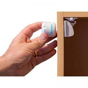 Verrous magnétiques sécurité enfant et bébé AYCORN - Lot de 10 fermetures aimantées pour tiroirs et placards + 2 clés magnétiques - Installation facile sans vis - Vidéo et instructions détaillées de la marque Aycorn image 0 produit