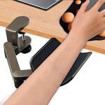 Wrist Rest Accoudoir Support d'avant Bras Réglable Repose Bras Articulé Ergonomique en Alliage d'Aluminium pour Ordinateur Bras-Stand Bureau Extender de la marque EMORE image 1 produit