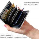 YiCoo RFID Blocage Titulaire De La Carte De Crédit Portefeuille Protecteur, Bloquer Les Voleurs d'Identité, Homme / Femme Porte-cartes En Acier Inoxydable Avec 6 Fentes En PVC de la marque YiCoo image 2 produit