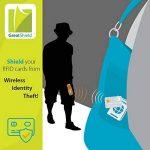 YiCoo RFID Blocage Titulaire De La Carte De Crédit Portefeuille Protecteur, Bloquer Les Voleurs d'Identité, Homme / Femme Porte-cartes En Acier Inoxydable Avec 6 Fentes En PVC de la marque YiCoo image 3 produit