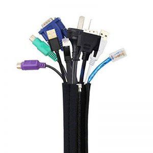 Yidarton Cache Cable, Organiseur du Câble Noir Fait De Qualité Premium En Néoprène Flexibl pour TV / Ordinateur / Home Entertainment-4pcs de la marque Yidarton image 0 produit