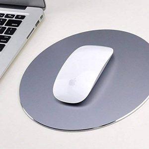 Yiding Tapis de souris avec PU antidérapant Base Creative rigide en aluminium rond Fashion gray de la marque Yiding image 0 produit