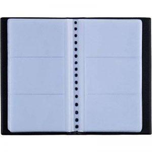 Zacro 150 Porte Cartes de Visite Carte de Livre PVC Cartes pour Ranger Carte de Visite Cartes Fidélité Porte Carte de Crédit etc (Noir) de la marque Zacro image 0 produit