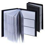 Zacro 150 Porte Cartes de Visite Carte de Livre PVC Cartes pour Ranger Carte de Visite Cartes Fidélité Porte Carte de Crédit etc (Noir) de la marque Zacro image 1 produit