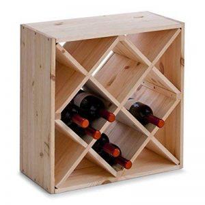 Zeller 13171 Casier à vin en bois naturel forme losange, 52 x 25 x 52 cm de la marque Zeller image 0 produit
